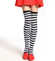 5pairs/lot Fashion women knee-high socks overknee socks student dance socks leg warmer free shipping