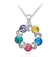 10pcs/lot Free shipping&nice gift&crystal necklace/pendant/heart/IDHA4005