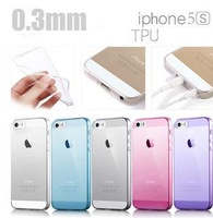 High Quality  0.3mm Ultra Thin Case for  5s Slim  Transparent  TPU  Cover Case for  5 cases Free shipping