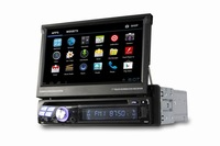 Free shipping 7 Inch Large Touch Screen 1 One DIN Car DVD Player Support Bluetooth GPS TV AM / FM SD Amplifier MP3 MP4 player