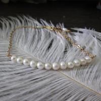 Handmade 1/20 14kt Gold Filled Natural Freshwater Pearl Long beads Bracelets
