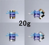 EPF  20G purple clear glass cream jar with silver/gold lid ,cosmetic container,Cosmetic Jar,Cosmetic Packaging,glass bottle