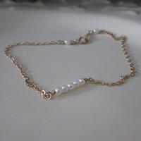 Original Design 1/20 14kt Gold Filled Natural Freshwater Pearl Mini Beads 2-3mm Bracelets