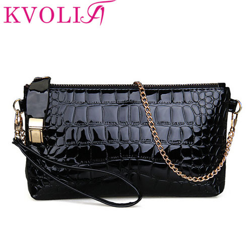 Hot fashion crocodile women clutch chain shoulder bags evening Bags day clutches pu leather handbags new 2015 HL2457(China (Mainland))
