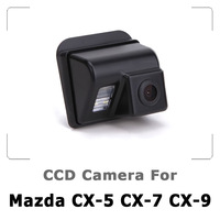 Car Rear view Camera For Mazda 3 CX-5 CX-7 CX-9 Mazda 6 with CCD Sensor, Waterproof 170 degree Night Vision free shipping