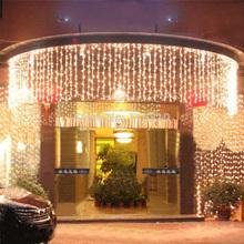 1000 LED Twinkle Lighting 10M x 3M LED xmas String Fairy Wedding Curtain background Outdoor Party Christmas Lights 110V 220V(China (Mainland))