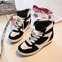 2014 women sneakers skateboarding shoes women shoes casual high-top shoes woman color block decoration shoes