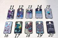 100pcs/lot colorful printing XO diamond MATATA   Big Tongue Teeth Pattern Hard Back PC Skin Case for Samsung Galaxy S5 cover
