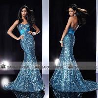 SD119 Sequin Mermaid Dresses Prom evening dresses 2014 vestido de festa Sexy Long Evening Dresses 2014 New Arrivals