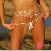 Woman cotton Sexy Hot Teardrop MIcro Mini Bikini Swimwear Thong G-String T-Back Underwear Lingerie Panties Brief for women