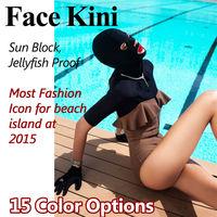 Popular trend Sun Block Facekini Swimming Cap Mask Island Beach Jellyfish Proof  Fashion Face Kini Bikini Face Wear