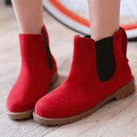 Free Shipping Women Boots 2014 Flock Autumn Ladies Fashion Flat Bottom Ankle Boots Sapatos Femininos Fashion Boots NSXZ2004