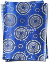 1set/lot, African Sego Headtie Gele & Ipele 2pcs in1bag, 1bag/lot, D/N 0075   Royal blue