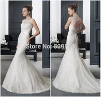 robe de mariage mermaid wedding dresses open back sexy lace wedding dress vestidos de noiva wedding gowns