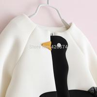 Sun fashion female child j - space cotton white swan outerwear short design