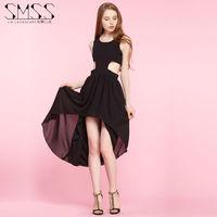 SMSS  new summer personality irregular Halter sexy slim sexy dress