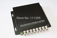 8 channel Fiber optic Video Data Multiplexer