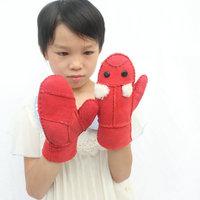 Free shipping! baby hot-selling  narural sheep skin  mittens ,    fashion  baby winter mittens