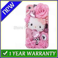 Luxury Design Rhinestone Pink Hello Kitty Diamond Phone case for Apple iPhone 4 / 4S