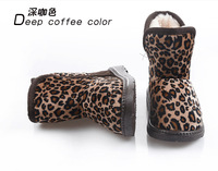 Retail Children's Boots (1 pair/lot) Unisex Children snow boots Leopard thick warm skid winter snow boots