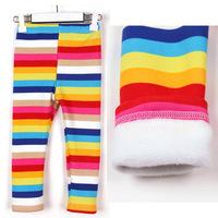 CP122 Free shipping 2014 top quality chldren stripe leggings fashion girl's tights fit autumn brand kid's leggings retail