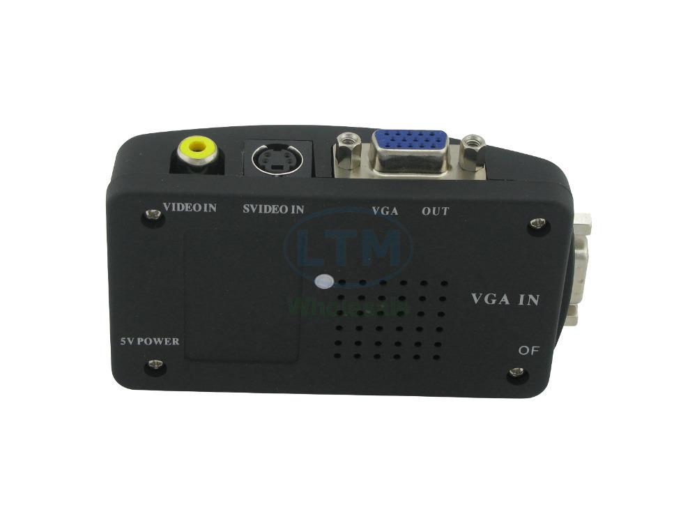 5 pcs/lot Audio/Video Cable - High Resolution RCA+S-Video+VGA Female to VGA Female Conversion(China (Mainland))