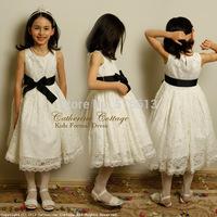 New arrive 2014 hot Summer korean children clothing,6-12yrs girls lace elegant party dress,princess kids costumes,high quality