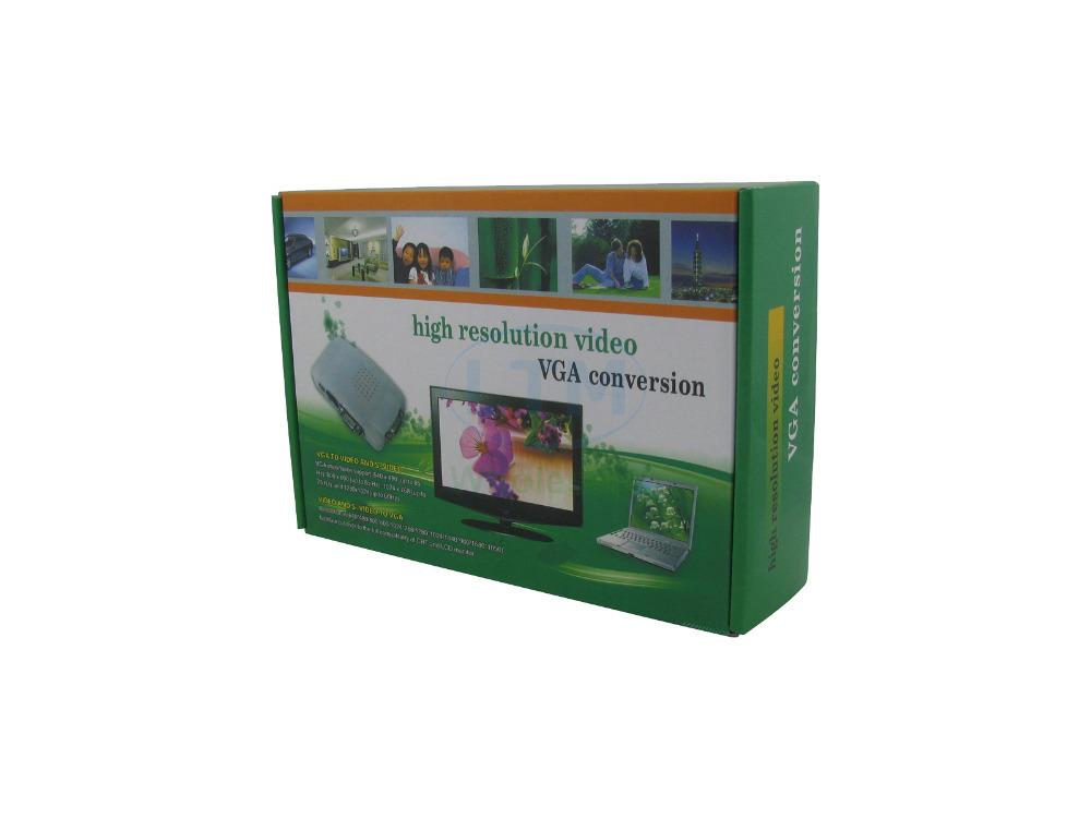 2 pcs/lot Audio/Video Cable - High Resolution RCA+S-Video+VGA Female to VGA Female Conversion(China (Mainland))