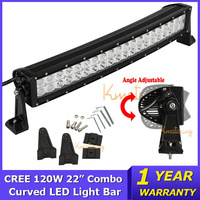 22 inch CREE LED work lights bar SUV 120W Truck 12V/24V curved offroad Bar ATV 4X4Spot Flood beam combo 4WD free shipping