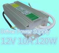 Free Shipping 2pcs/lot 12V Output  12V 10A 120W Waterproof LED Driver Power Supply Outdoor AC170V-250V Input