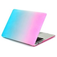 Rubberized Rainbow Matte Hard Case Keyboard Case + Silicone Keyboard Protector For Macbook Air 11 13 Pro 13 15 Pro 13 15 Retina