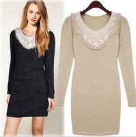 New winter women's dress Vestidos casual long sleeve office  dresses