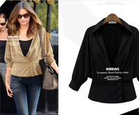 2014 New Arrival autumn European style Wild fashion long-sleeved jacket women clothes Outerwear & Coats free shipping