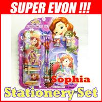 Sofia Princess Stationery Set Pencil Box/Pencils/Sharpener/Eraser/Notebook School Supplies Girls Children Kid Favor Gift KT025