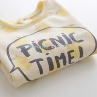 Sun female child m - picnic small pineapple loop pile print sweatshirt