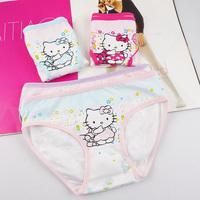 free shipping baby girls underwear children lingerie cotton briefs kids hello kitty panty size S M L XL