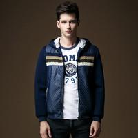 Men's clothes Trend coat Hoodies sweatshirts Slim fit Rib bottom Free shipping New 2014 Autumn Winter M-2XL