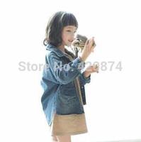 Sun fashion female child j - nostalgic denim trench outerwear