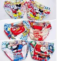 12pcs/lot cartoon children underwear baby boy briefs undershorts kid's panties 1-9years free shipping