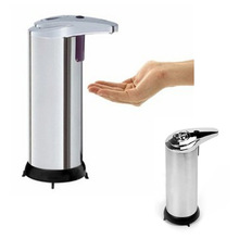 Stainless Steel Automatic stainless steel Sensor Soap &Soap Dispenser Infrared Handfree Touchless hot sale(China (Mainland))