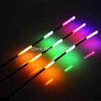 3pcs/lot 3 Full Luminous Electronic Floats Fishing Tackle Battery Night Fishing Floats For Fly /Carp Fishing+3pcs Battery(green)