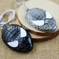 NEW Spiderman mask model key chain key ring key pendant model toy with Keychain ,free shipping