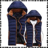 2014 new men's winter down vest cotton vest Korean men cultivating cotton vest tide male couple burst Jacket