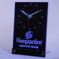 tnc0122 Hoegaarden Belgium Beer Bar Table Desk 3D LED Clock