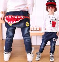 Korean Designer Boys Shark Mouth Jean with large back zip pocket Sizes 2-6yr