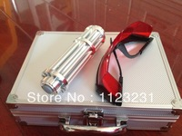 NEW!!!blue laser pointers 100000mw 100W 450nm /burn match balloon dry wood+Free glasses + charger for free +gift box