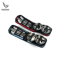 Wholesale And Retail Stainless Steel Portable ANAFIM  2 Persons Outdoor Camping cookware tableware chopsticks spoon bowl Gifts