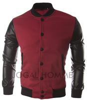 Hot Sale 2014 NEW arrived free shipping/popular men's jacket/fashion men's PU leather jacket/mens leather garment 5 color M-XXXL