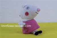 "Free shipping 1pcs 19cm=7.5"" High Qulaity Pepa Pig Plush Toys Peppa's Friend Susie Sheep baby birthday gift"