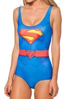Harajuku swimsuit one piece Superman Diamond Muscle digital 3D printing Sexy Bikini milk silk swimwear women SM005